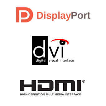 Video interfaces - DisplayPort, DVI, HDMI.