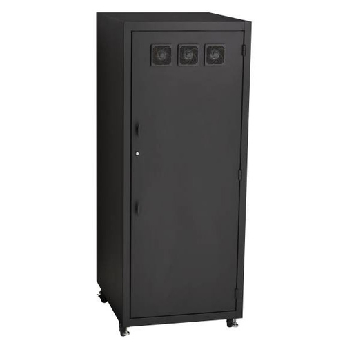 Black Box ServShield Rackmount Sliding Adjustable Tower Shelf with Fins